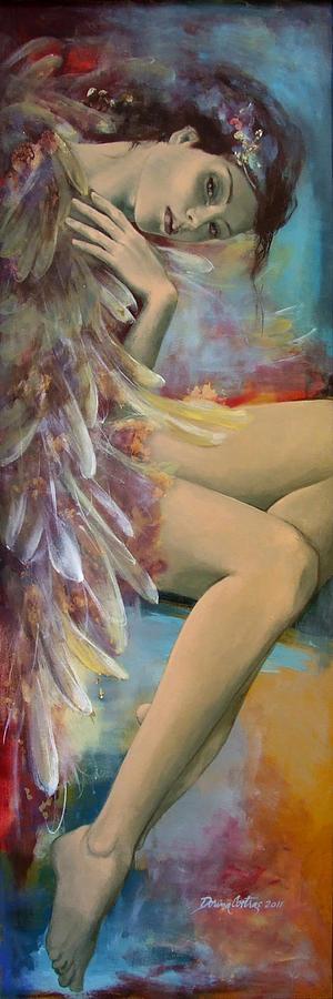 Fantasy Painting - Earthly Feelings by Dorina  Costras