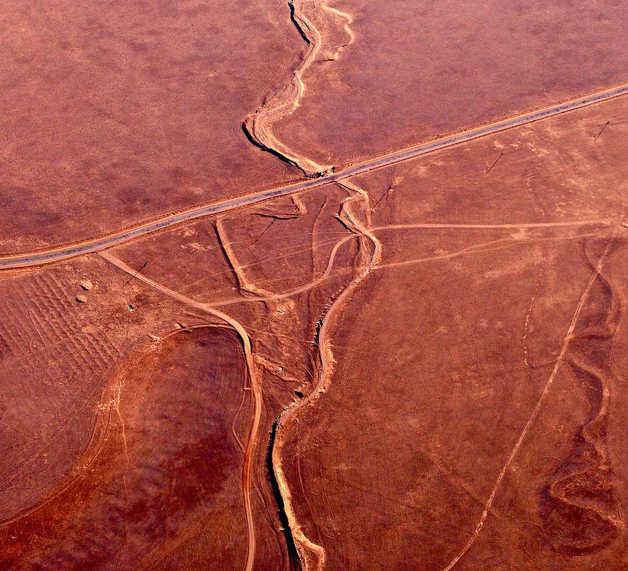 Aerial Photography Photograph - Earthmarks 6 by Sylvan Adams