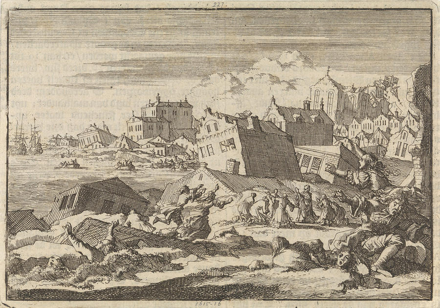 Earthquake In Jamaica Where The City Port Royal Is Destroyed
