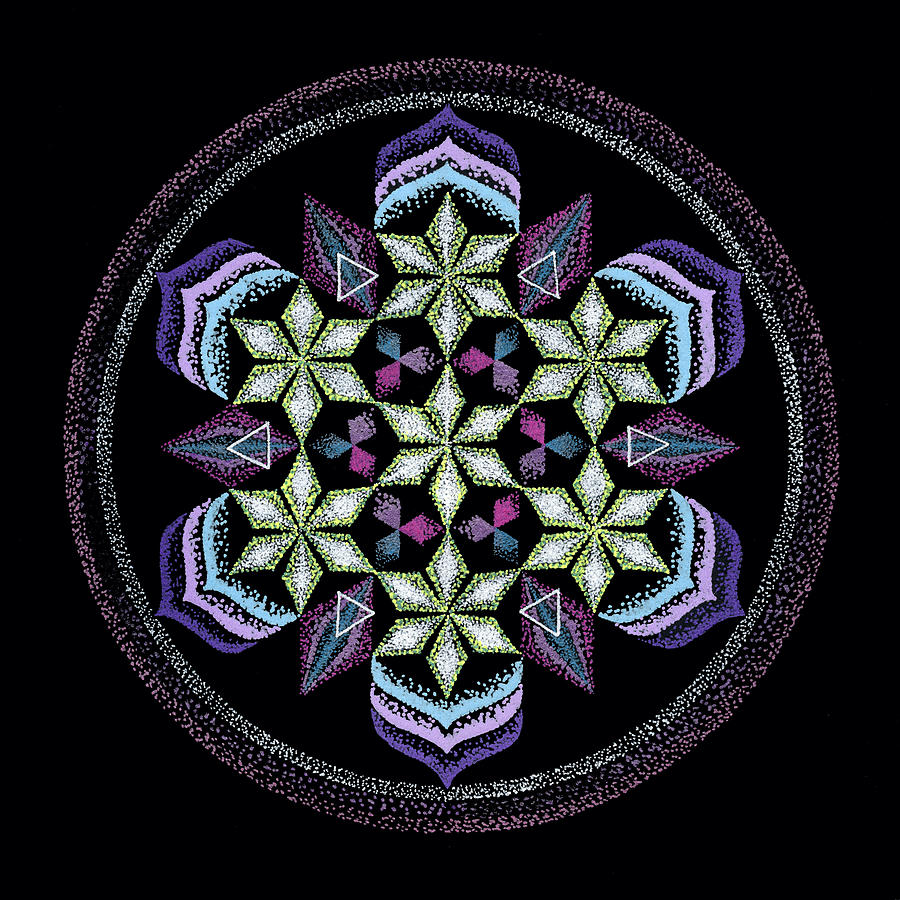 Healing Mandala Painting - Earths Forgiveness by Keiko Katsuta