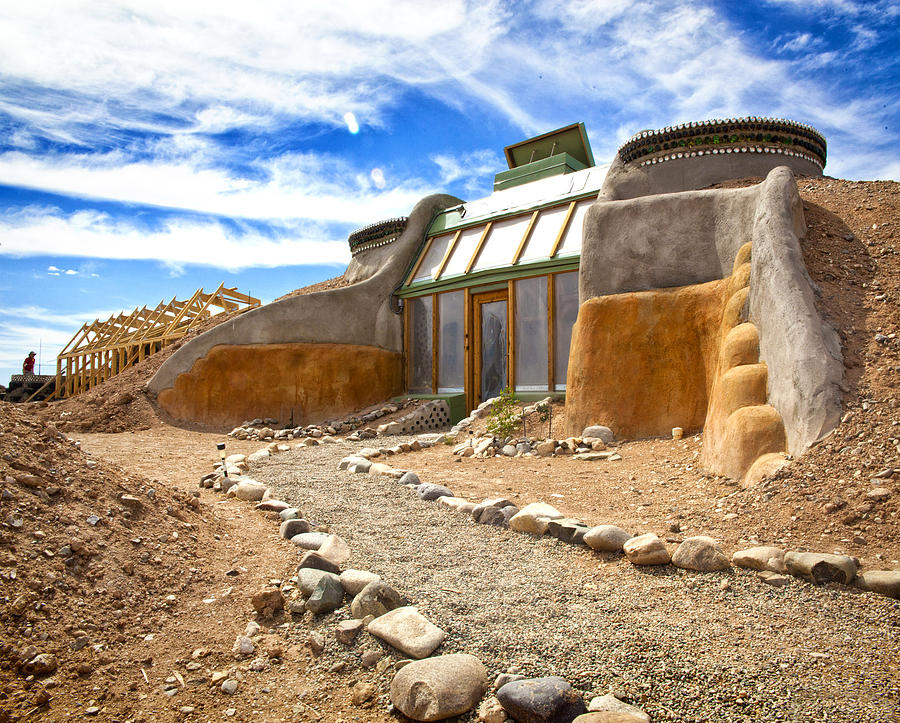 Landscapes Photograph - Earthship Taos  by Shanna Gillette