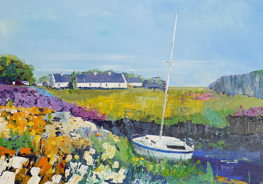 West Coast Of Scotland Painting - Easdale Cottages by Peter Tarrant