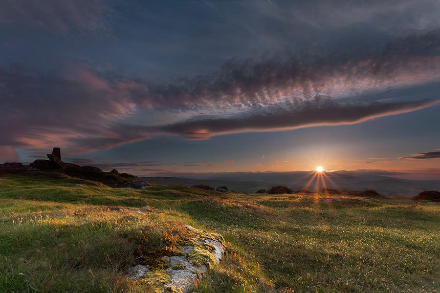 Easdon Tor Sunset Photograph by Foxyrider Photography By Richard Fox