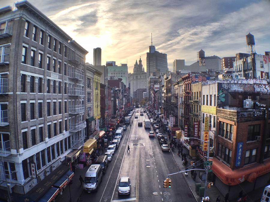 East Broadway At Dusk Photograph by Jannis Werner