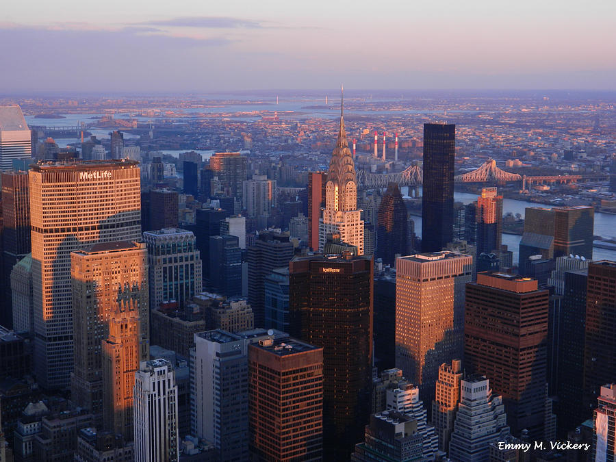 New York City Photograph - East Coast Wonder Aerial View by Emmy Marie Vickers