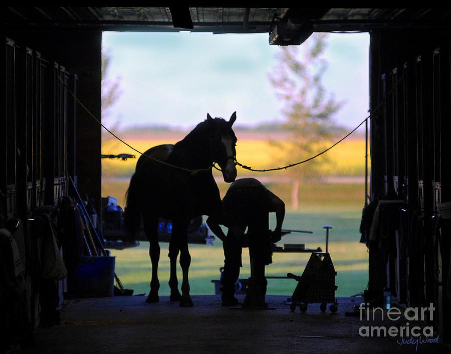 Horse Digital Art - East Door Farrier by Judy Wood