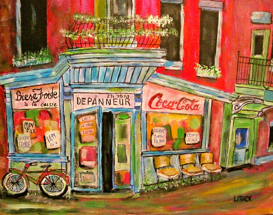 Depanneur Painting - East End Depanneur by Michael Litvack
