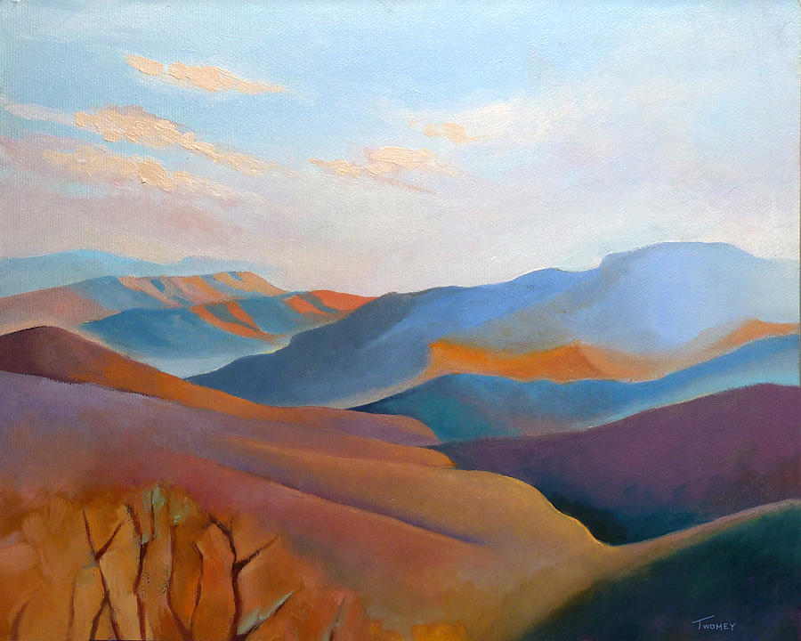 Mountains Painting - East Fall Blue Ridge No.3 by Catherine Twomey