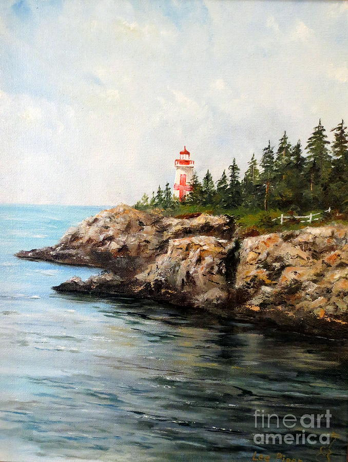 Lighthouse Painting - East Quoddy Head Light by Lee Piper