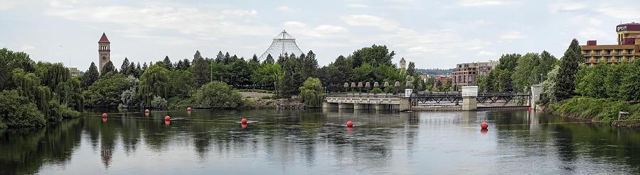 Spokane Photograph - East Riverfront Park And Dam - Spokane Washington by Daniel Hagerman