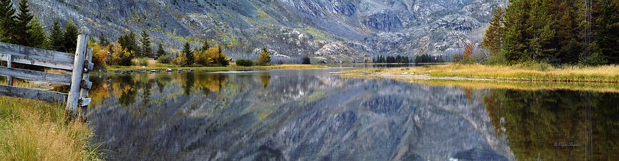 Beautiful Photograph - East Rosebud Lake Fall Panorama by Roger Snyder
