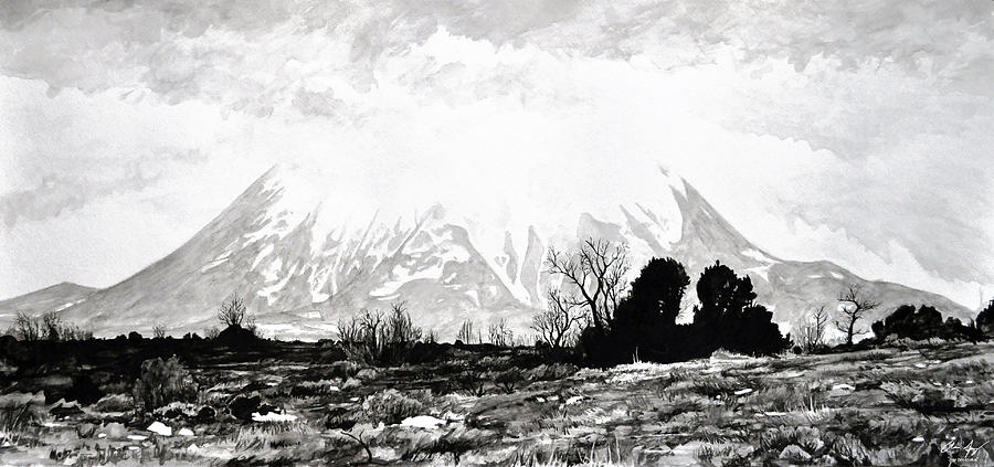 Mountain Painting - East Spanish Peak by Aaron Spong