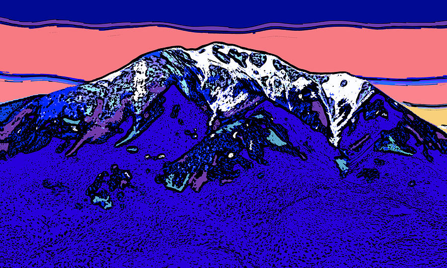 East Spanish Peak - Colorado Digital Art