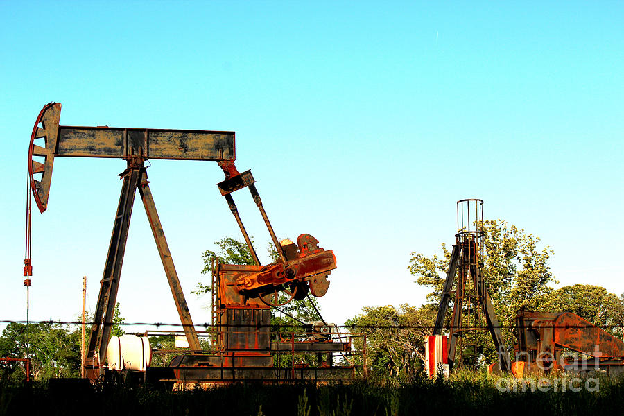 East Texas Oil Field Photograph - East Texas Oil Field by Kathy  White