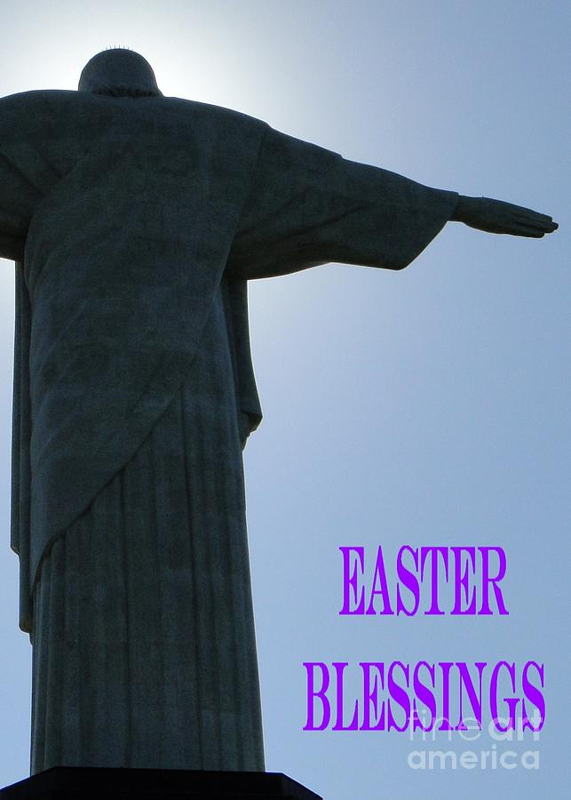 Easter Card Photograph - Easter Blessings Card by Barbie Corbett-Newmin
