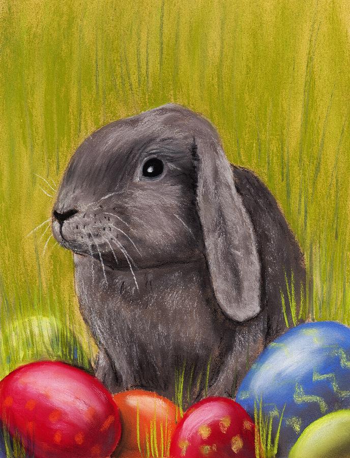 Rabbit Painting - Easter Bunny by Anastasiya Malakhova