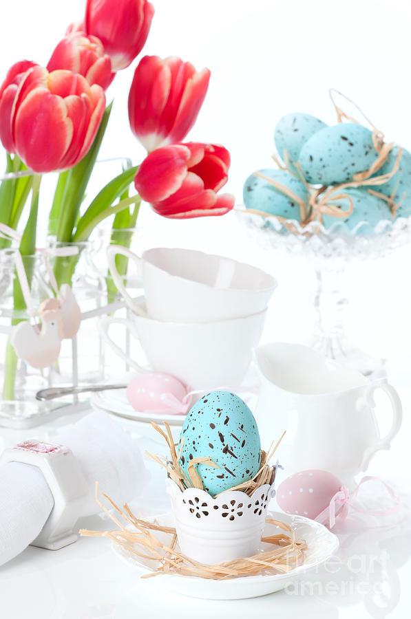 Spring Photograph - Easter Egg Setting by Amanda Elwell