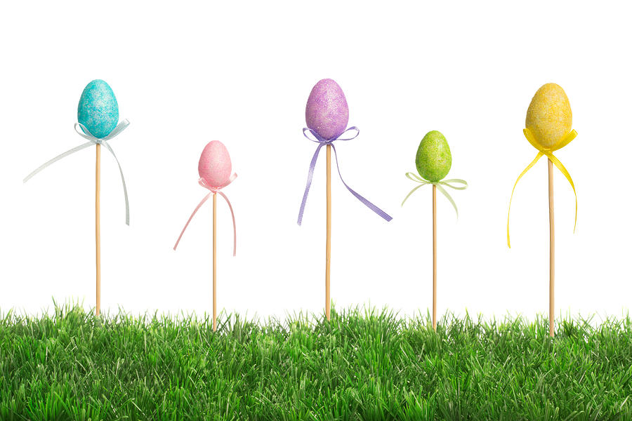 Easter Eggs Photograph - Easter Eggs In Grass by Amanda Elwell