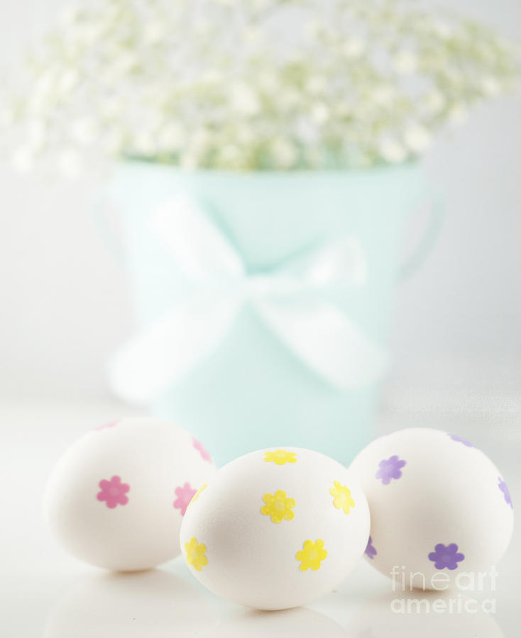 Baby's Breath Photograph - Easter Eggs by Juli Scalzi