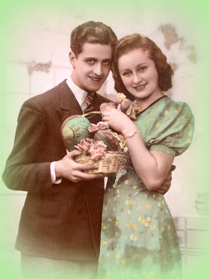 Easter Photograph - Easter Greetings Retro Style by The Creative Minds Art and Photography