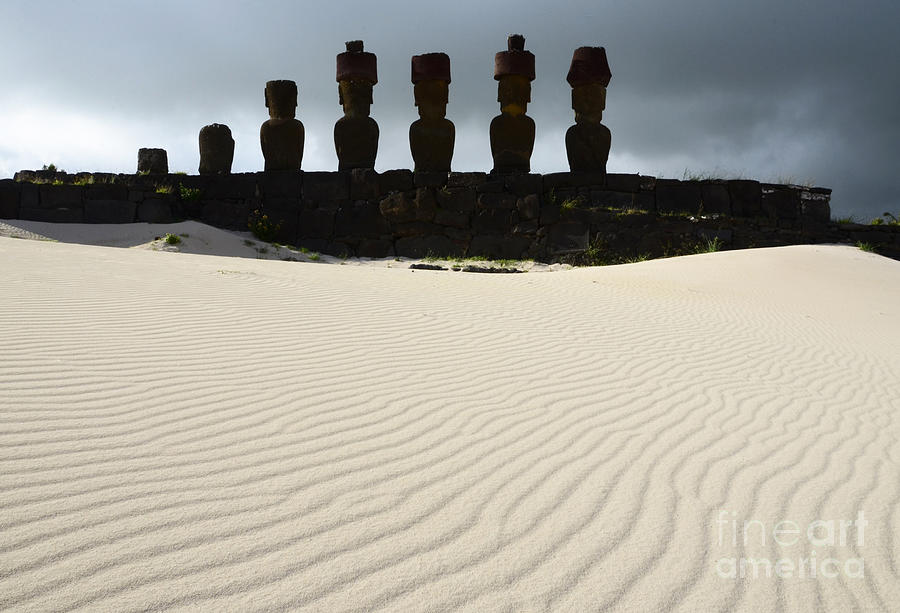 Easter Island Photograph - Easter Island 9 by Bob Christopher