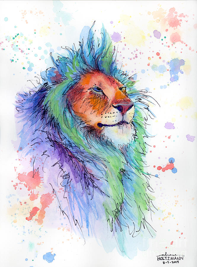 Pastel Painting - Easter Lion by Arleana Holtzmann