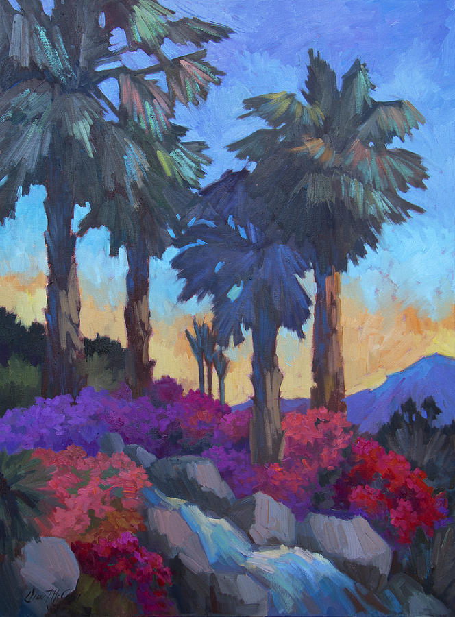 Palm Trees Painting - Easter Morning by Diane McClary