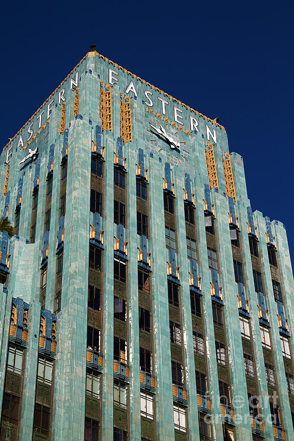 Eastern building in historic art deco downtown los angeles for T shirt printing downtown los angeles