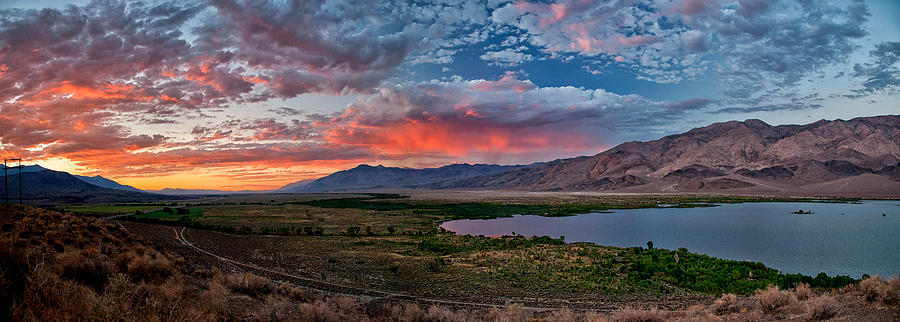 Sunset Photograph - Eastern Sierra Sunset by Cat Connor