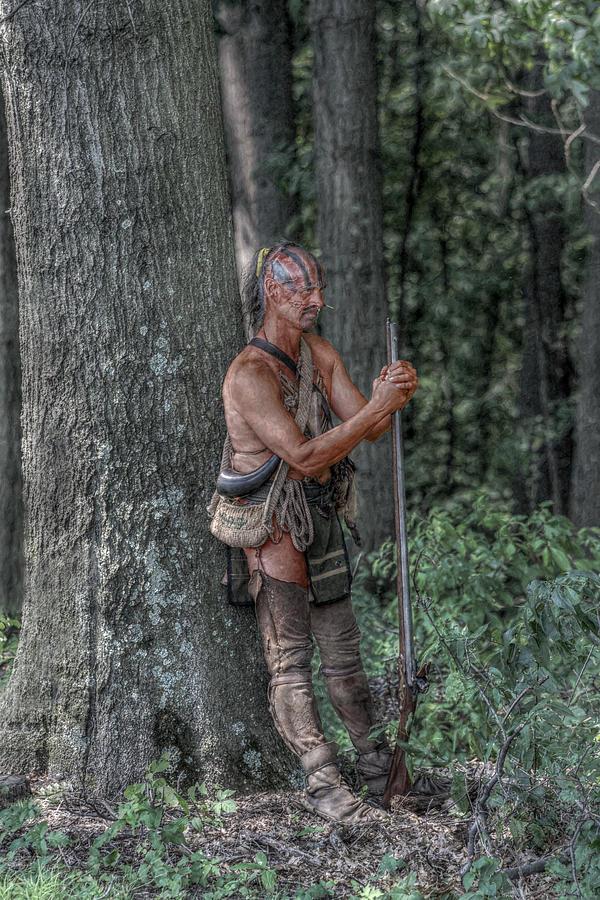 Warrior Digital Art - Eastern Woodlands Indian At Rest by Randy Steele