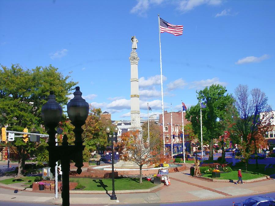 Easton Pa Photograph - Easton Pa - Civil War Monument by Jacqueline M Lewis