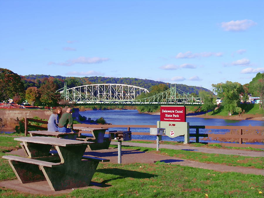 Easton Pa Photograph - Easton Pa - Delaware Canal State Park by Jacqueline M Lewis