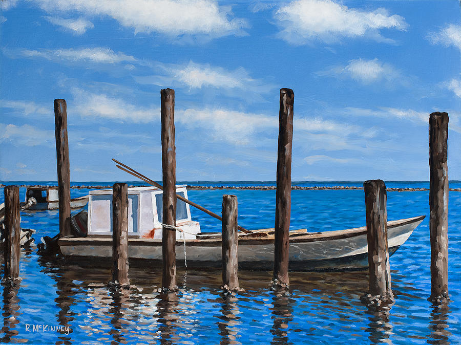 Boat Painting - Eastpoint Gray by Rick McKinney