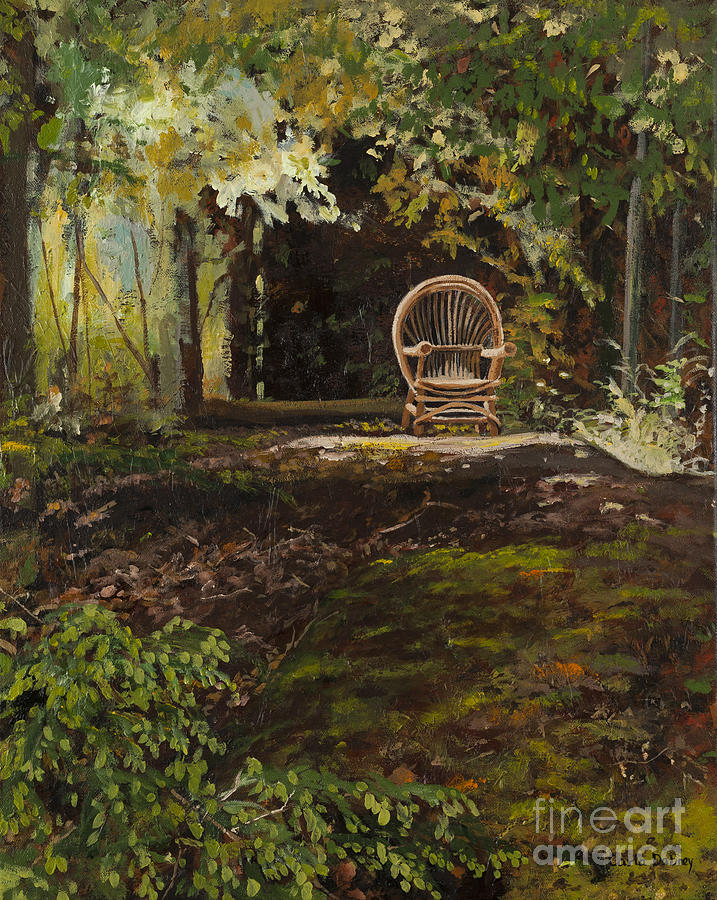 Wooded Painting - Easy Chair by Carla Dabney