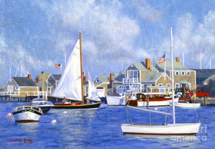 Nantucket Painting - Easy Street Basin Blues by Candace Lovely