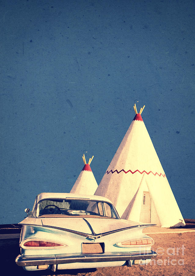 Road Photograph - Eat And Sleep In A Wigwam by Edward Fielding