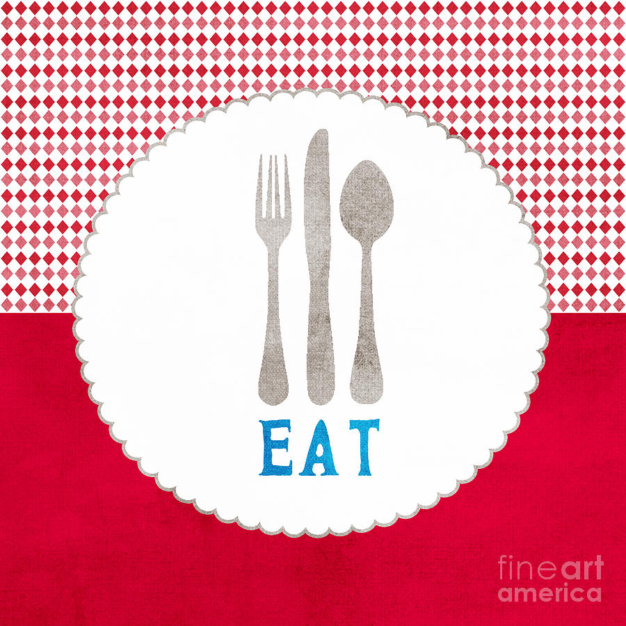 Eat Painting - Eat by Linda Woods