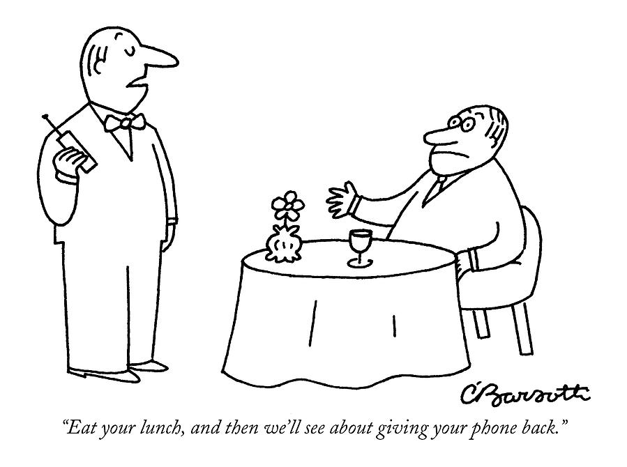 Eat Your Lunch Drawing by Charles Barsotti