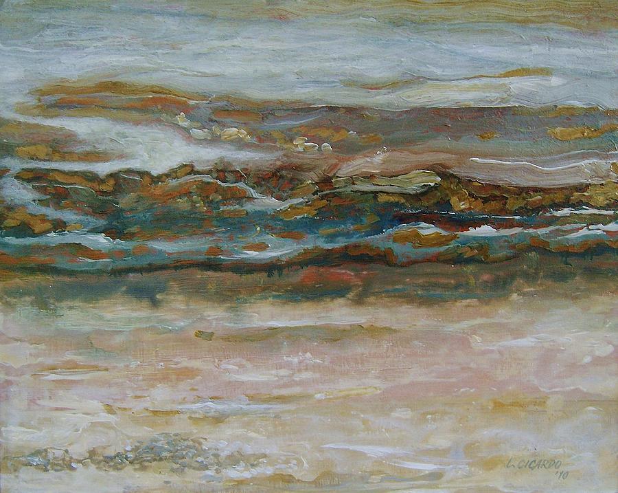 Seascape Painting - Ebb Tide by Lou Cicardo