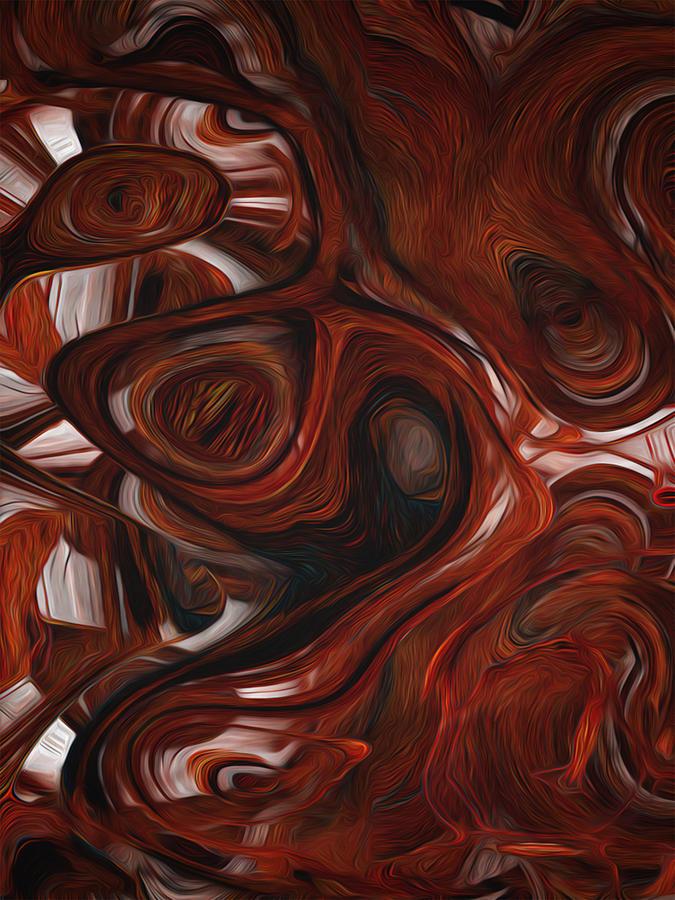 Digital Painting - Ebony Flow by Jack Zulli