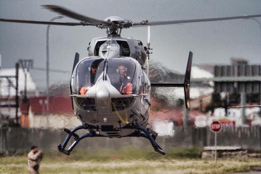 Eurocopter Ec145 Photograph - Ec145 Display by Paul Job
