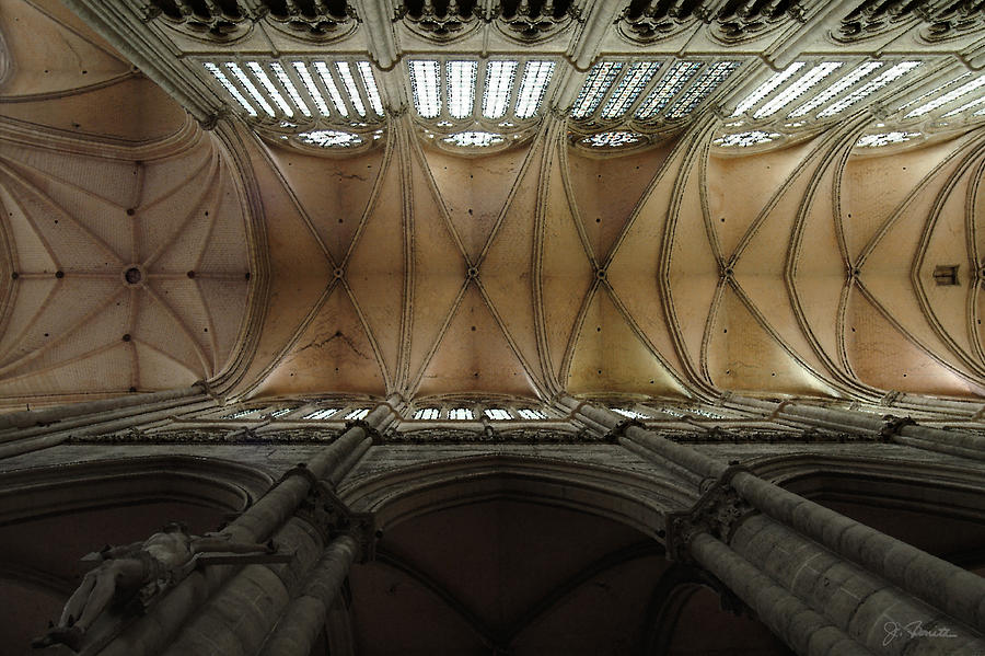 France Photograph - Ecclesiastical Ceiling No. 1 by Joe Bonita