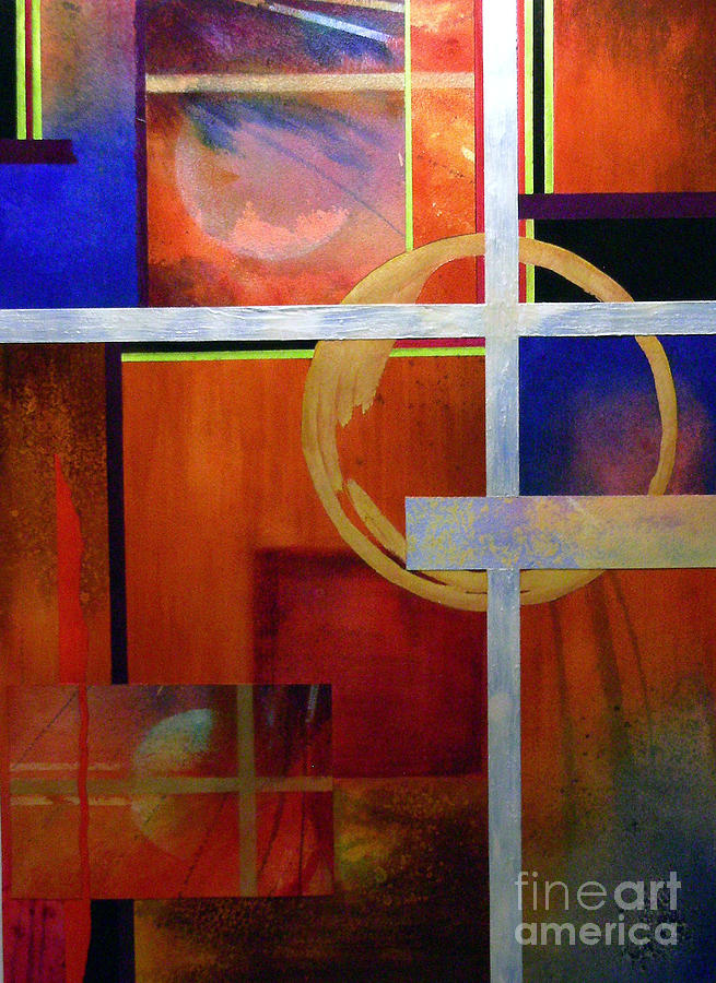 Abstract Painting - Echoes by Lenore Walker
