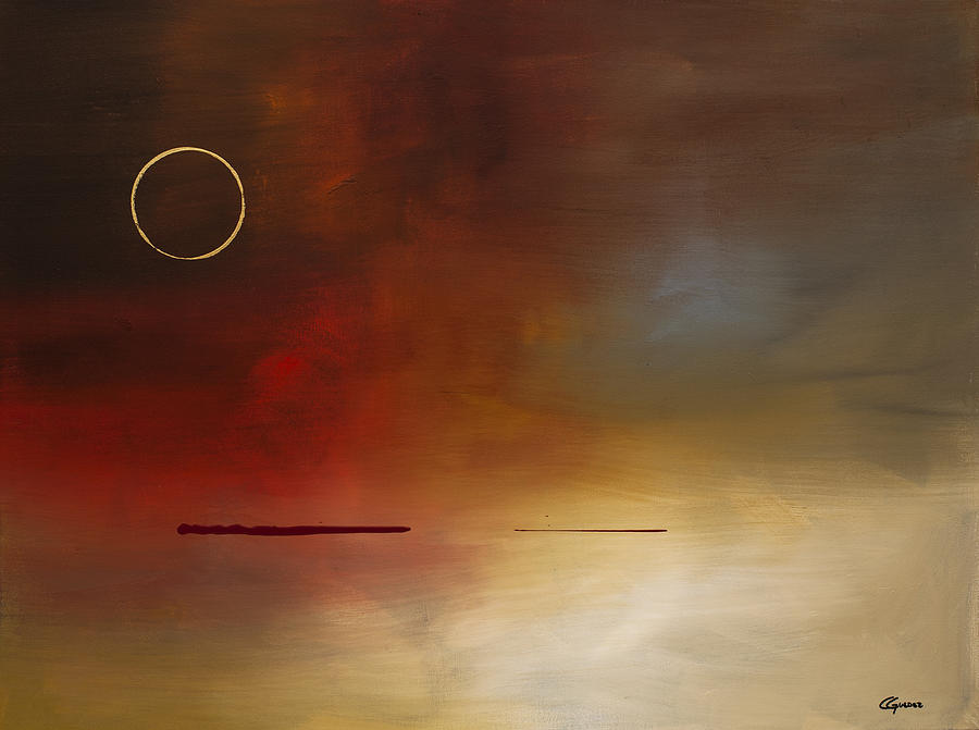 Eclipse Painting By Carmen Guedez