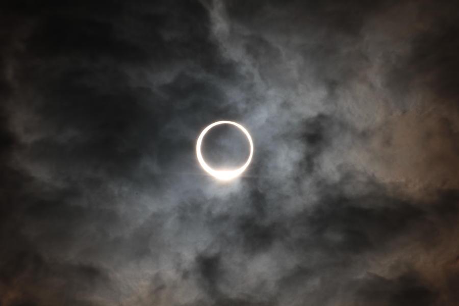 Eclipse Of The Sun Like Ring Photograph by Norio Nakayama