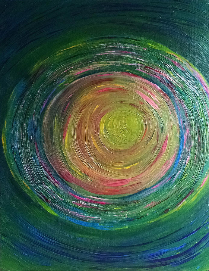 Channeled Painting - Eclipse Of Time by Daina White