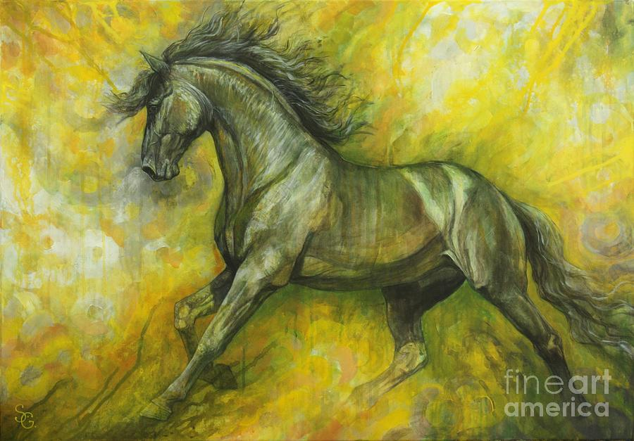 Horse Painting - Eclipse by Silvana Gabudean Dobre