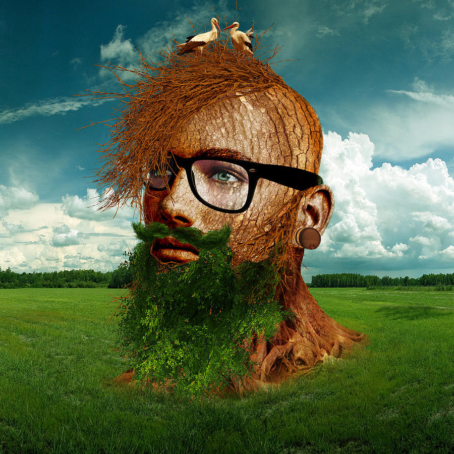 Man Digital Art - Eco Hipster by Marian Voicu