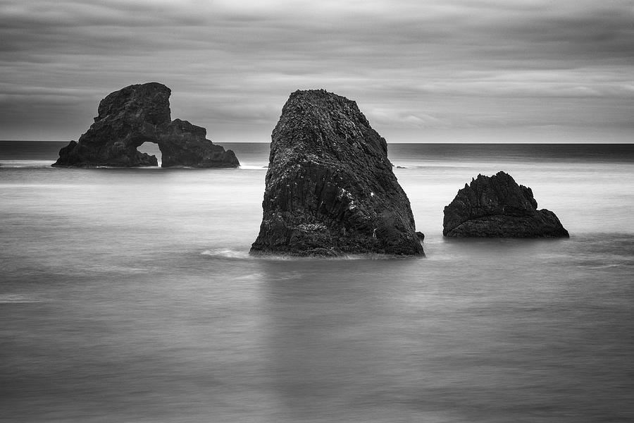 Ecola State Park Photograph - Ecola Rocks by Brian Bonham
