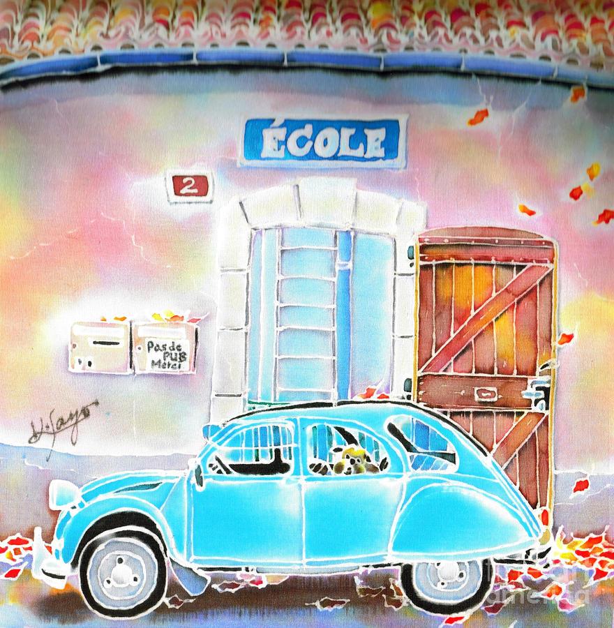 Car Painting - Ecole by Hisayo Ohta